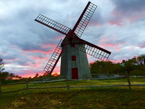 Another beautiful sunset tonight at the Old Mill, the oldest continuously operating windmill in America.