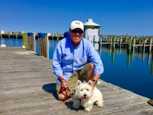 Bob and Fala at the Nantucket Boat Basin