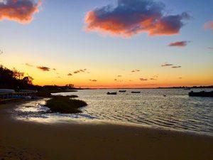 The sun sets on Polpis Harbor.
